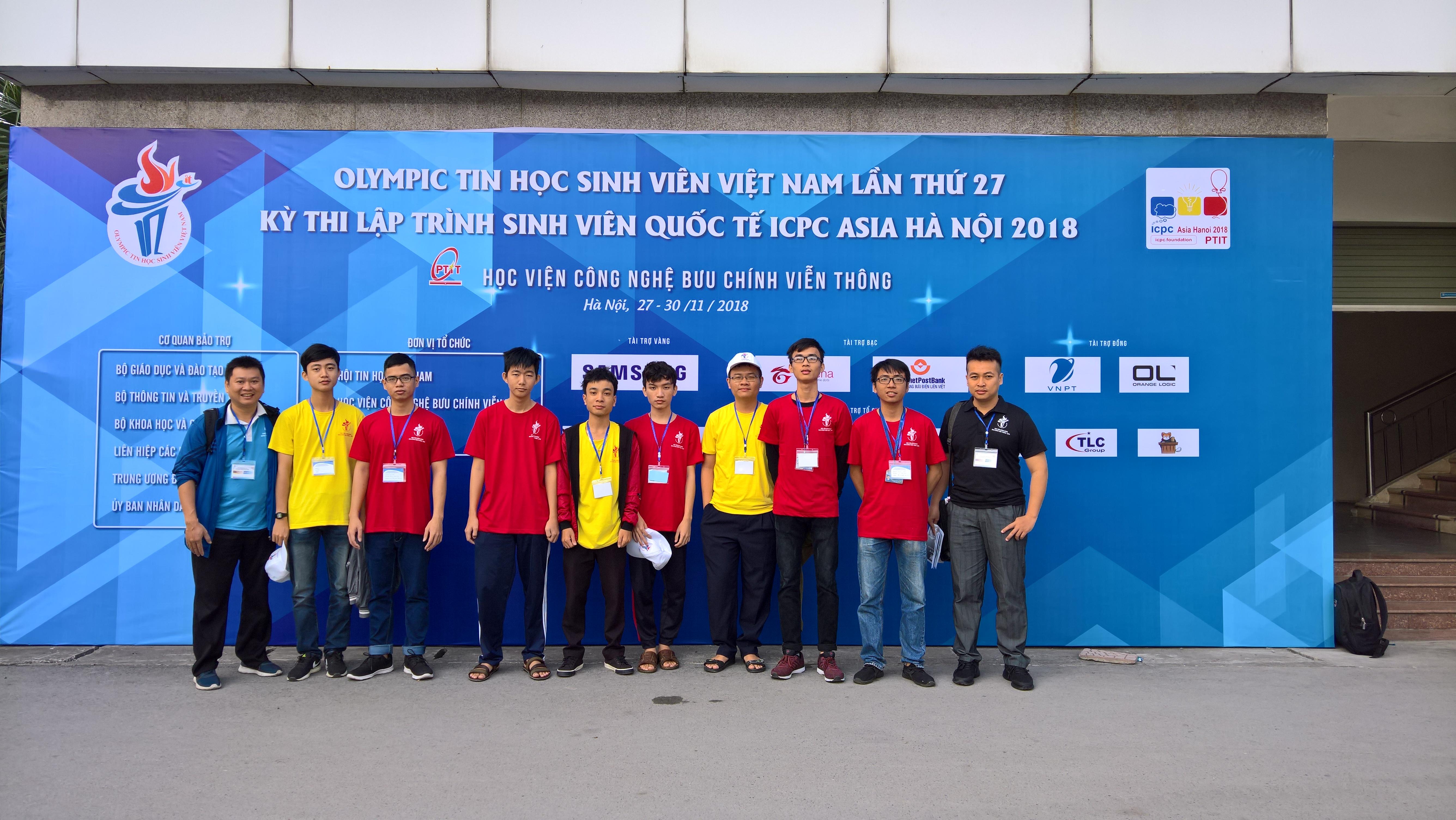 SV UIT và khoa KHMT đạt nhiều giải cao từ kỳ thi Olympic tin học Sinh viên Việt Nam 2018